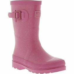 Joules Girl's Junior Field Mid-Calf Rubber Rain Boot