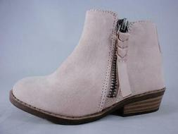 Dolcetta Leigh Kids Booties Pink Zip Up Low Heel Ankle Boots