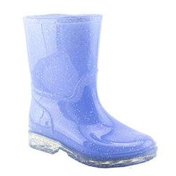 Easy Girls Outdoor Glitter Color Waterproof Ankle Rain Boots