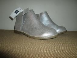 GAP KIDS Girls Silver Metallic Sparkle Booties Ankle Boots S