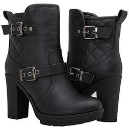 Globalwin Women's 18YY36 Black High Heel Fashion Ankle Boots
