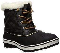 Global Win GLOBALWIN Women's 1632 Black Grey Snow Boots - Ch