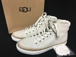 UGG Australia GRADIE ANTIQUE WHITE LEATHER SNEAKER ANKLE BOO