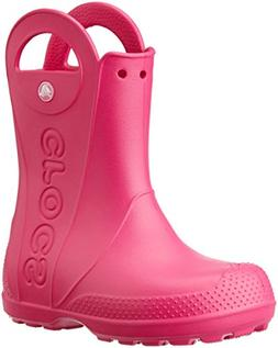 Crocs Kids' Handle It Rain Boot, Candy Pink, 10 M US Toddler