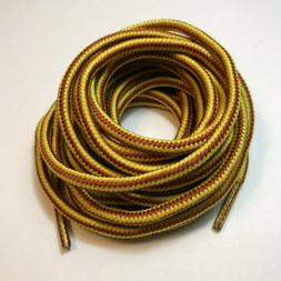 Heavy duty round boot shoe laces for hiking work boots 40 45