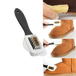 Hot Chic 3-Sides Cleaning Brush For Suede Nubuck Shoes Boot