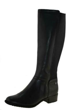 Hush Puppy Womans Lindy Chamber Wide Calf Boots Black Style