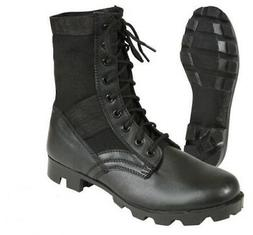 jungle boots black leather military 5081