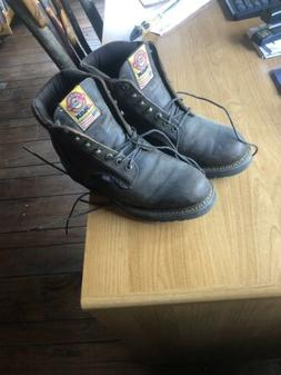 "Justin Work Boots Mens J-Max 8"" Rugged Gaucho Soft Toe Lace"