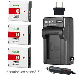 Kastar Battery  and Charger Kit for Sony NP-BG1, NP-FG1, BC-