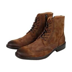 Kenneth Cole Unlisted Buzzer Boot Mens Brown Casual Dress Bo