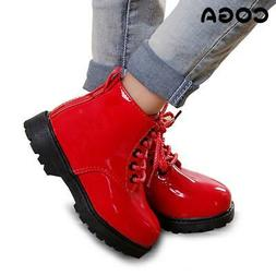 Kids Korean version of Martin boots leather waterproof Shoes