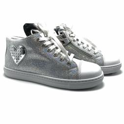Kids Shoes Sneakers White Boys Girls Children Lace Up Fashio
