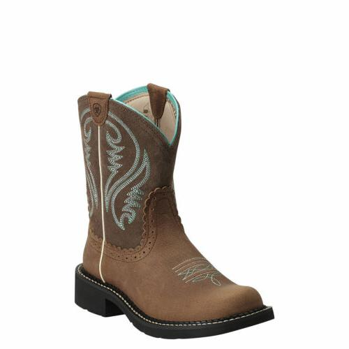 """Ariat 10014080 Fatbaby Heritage 8"""" Short Wide Calf Cowgirl R"""