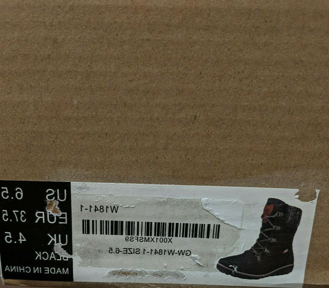 Global Win Snow Boots, Black,