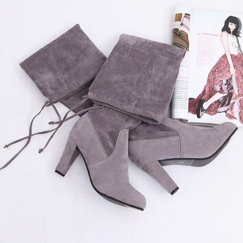 2019 Suede Slim The Knee High <font><b>Boots</b></font> Botas