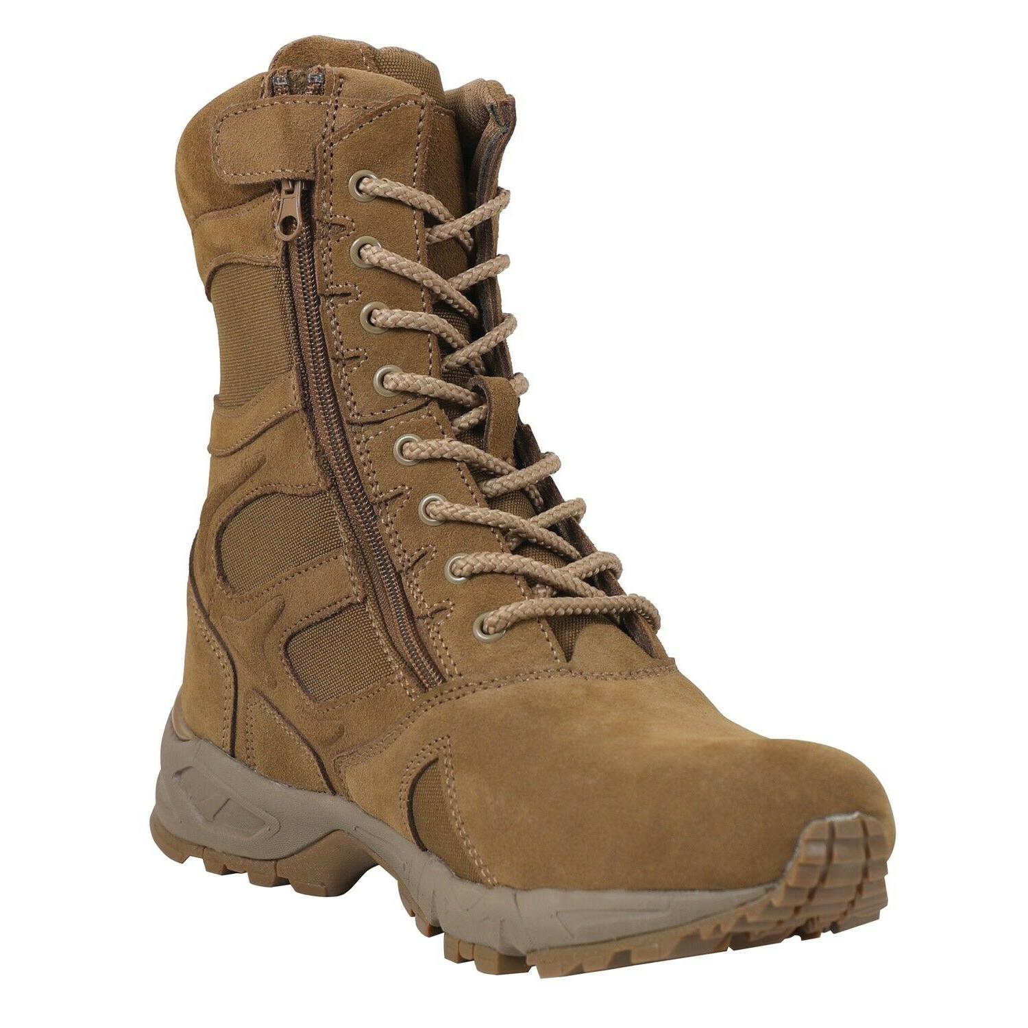 8 forced entry deployment boots side zipper
