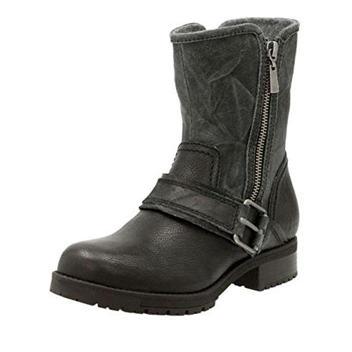 CLARKS Women's Faralyn Rise Boot Black Nubuck 8 M US