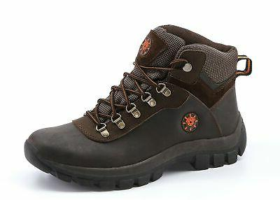 Mens Water Resistance Boots Outdoor Winter Hiking Travel Cam