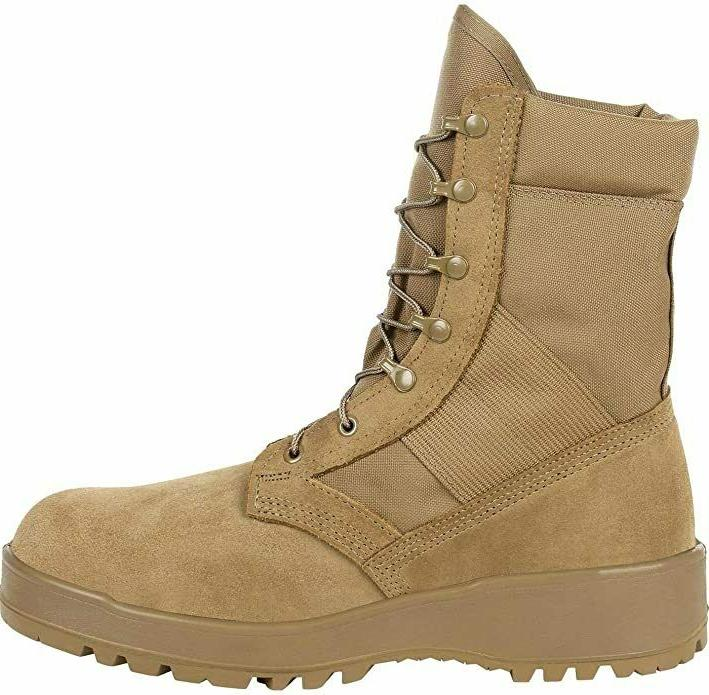Rocky Army TAN Hot Weather Boots Size 9N, in