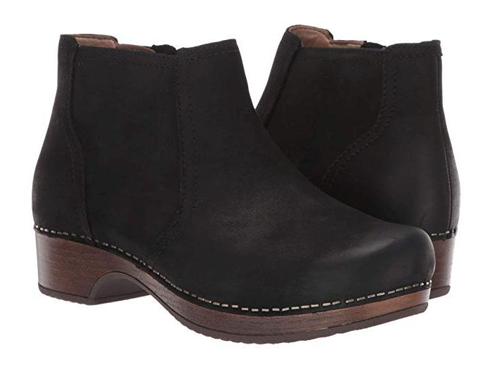 barbara burnished nubuck ankle boots clogs shoes