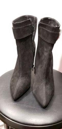 Forever 21 black faux suede ankle boots size 5.5 NEW