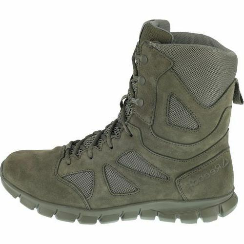 "Men's Reebok 8"" Sage Green Soft Toe Sublite Cushion Tactical"