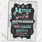 Boots or Bows Gender Reveal Invitations / Baby Shower Printe