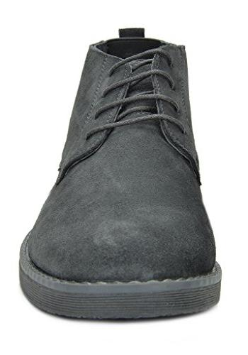 Bruno Marc Moda Italy Suede Leather Desert Storm Chukka Grey 11