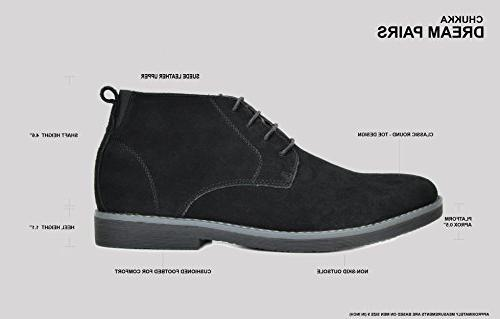 Bruno Marc Men's Grey Suede Leather Chukka Desert Boots - 8.5 M