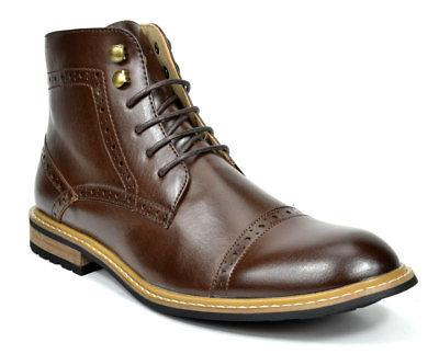 Bruno Combat Faux Oxfords Chelsea Dress Boots