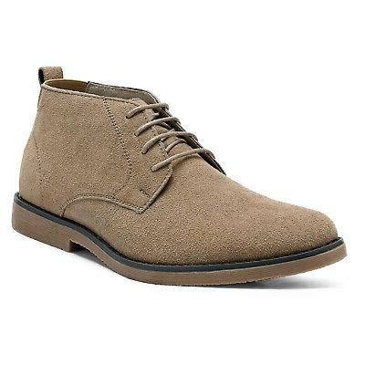 Bruno Marc Men's Suede Leather Lace Up Classic Desert Oxford
