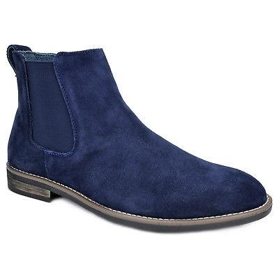 BRUNO MARC Men Suede Leather Chelsea Chukka Dress Ankle Boots Shoes