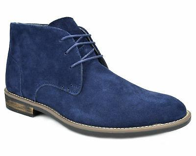 Bruno Mens Leather Casual Chukka Desert Boots