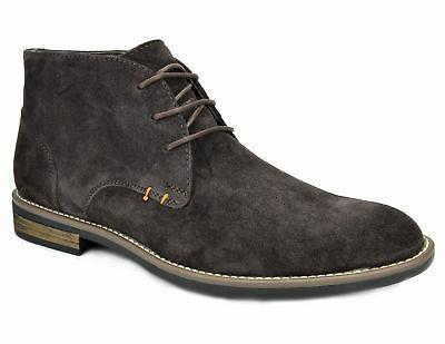 Bruno Marc Mens Suede Leather Lace up Oxfords Casual Ankle Boots