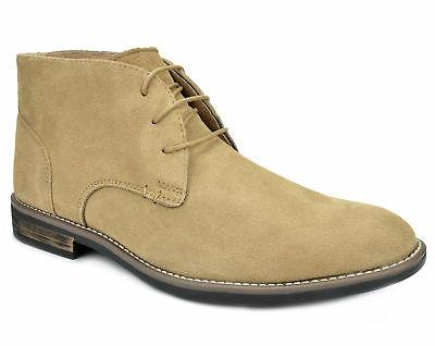 Bruno Mens Leather up Casual Desert Boots
