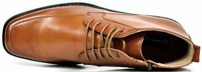 Bruno Marc Men's Brown Leather Lined Dress Ankle - 10.5 M