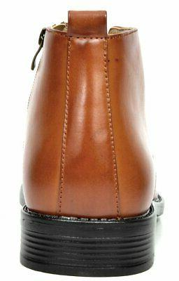 Bruno Men's Brown Leather Ankle Boots - M