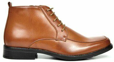 Bruno Marc York-1 Brown Lined Dress Ankle Boots 10.5 M