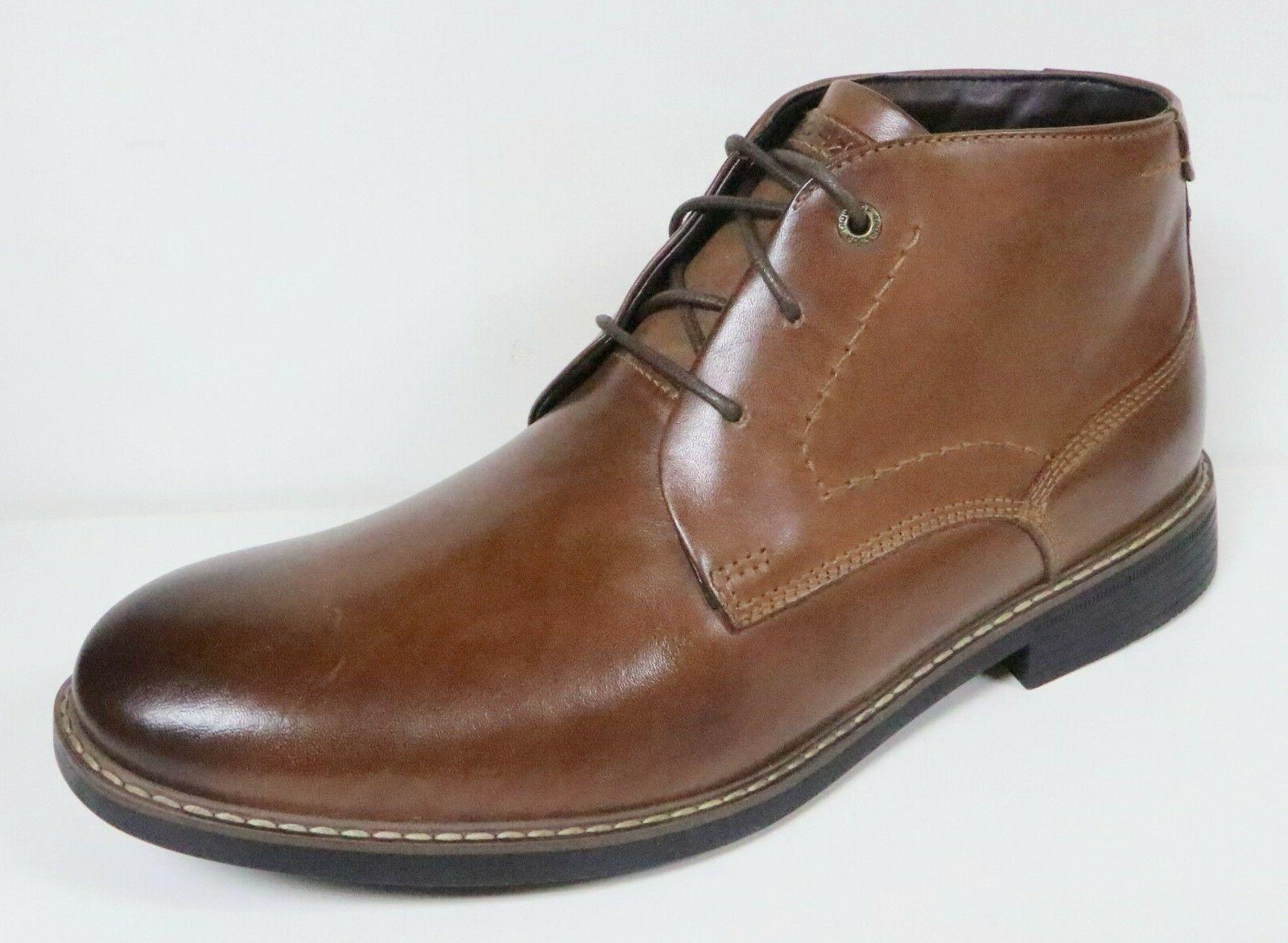 ROCKPORT CLASSIC BREAK MEN'S BROWN LEATHER CHUKKA BOOTS LACE