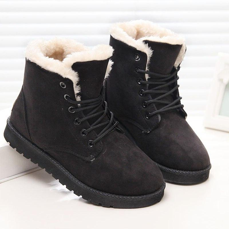 Classic Women Suede Female Warm Fur Mujer Plus Size Shoes