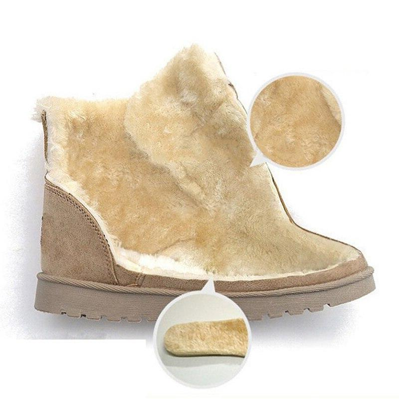 Classic Suede Ankle Female Insole High Quality Mujer Winter Shoes