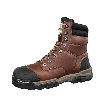 CARHARTT CME8355 MEN'S 8 INCH BROWN GROUND FORCE WORK BOOT