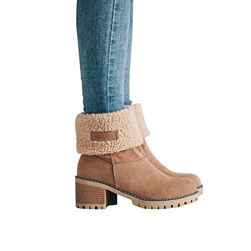 cute warm short boots suede