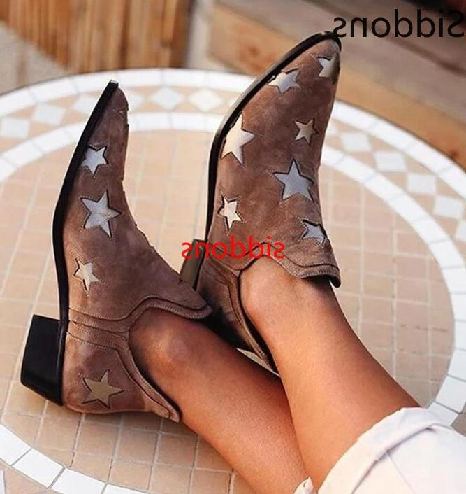 <font><b>ankle</b></font> <font><b>boots</b></font> casual shallow slip-on toe low woman big size leather zapatos de mujer B09