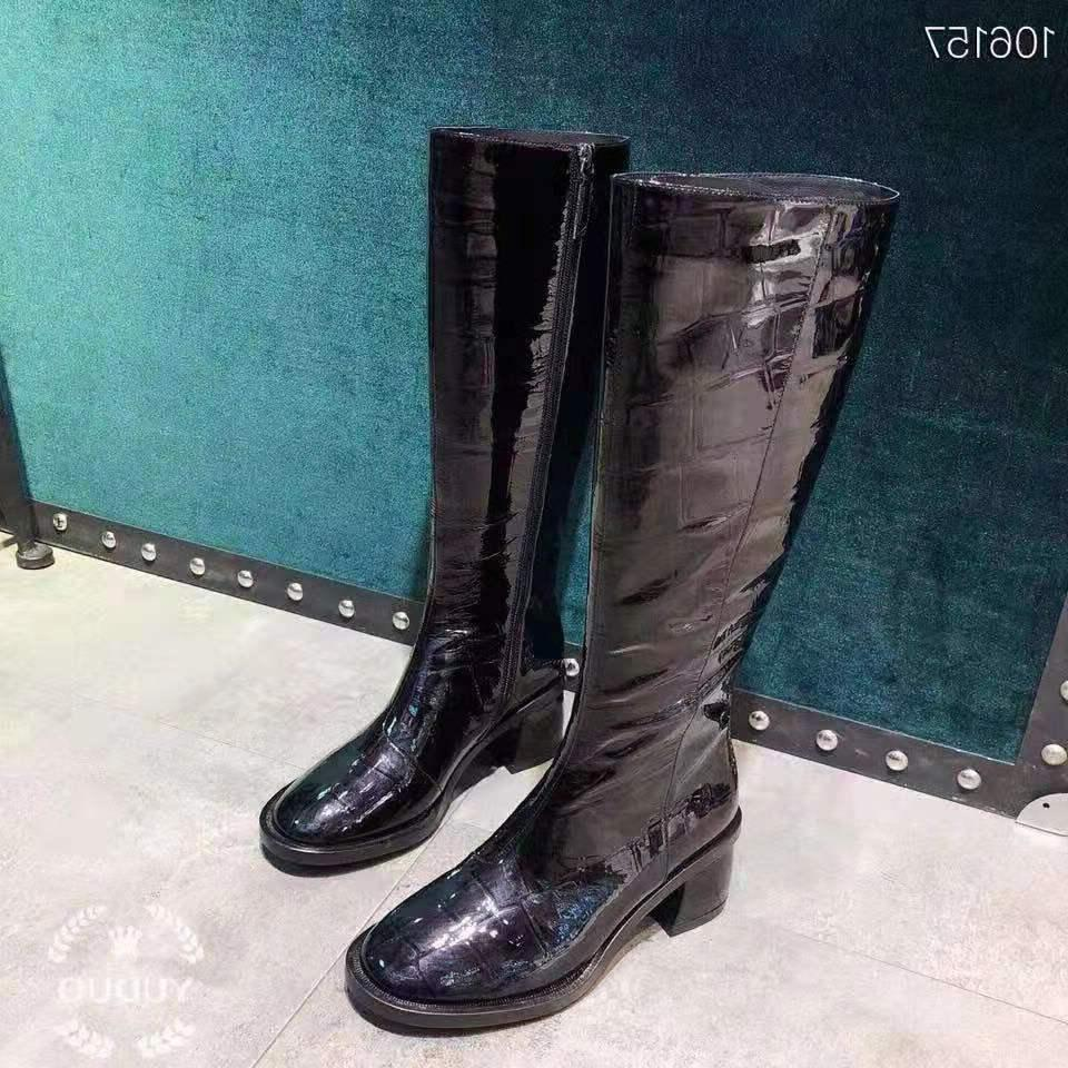 Vibsterimma Patent Women Genuine <font><b>Riding</b></font> Knee High