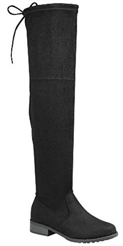 81c47b46c0b Forever Link Jalen-H4 Women s Over The Knee Thigh High Flat
