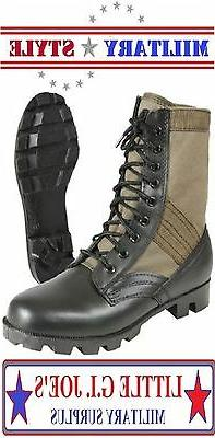 Jungle Boots Olive Drab Green Military Style Vietnam Boots 5