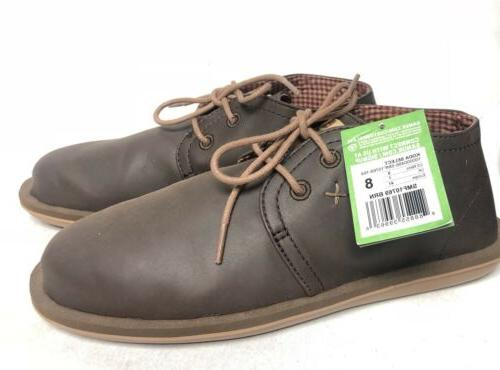 Sanuk Koda Select Lace Up Loafers Chukka Ankle Boots Brown L
