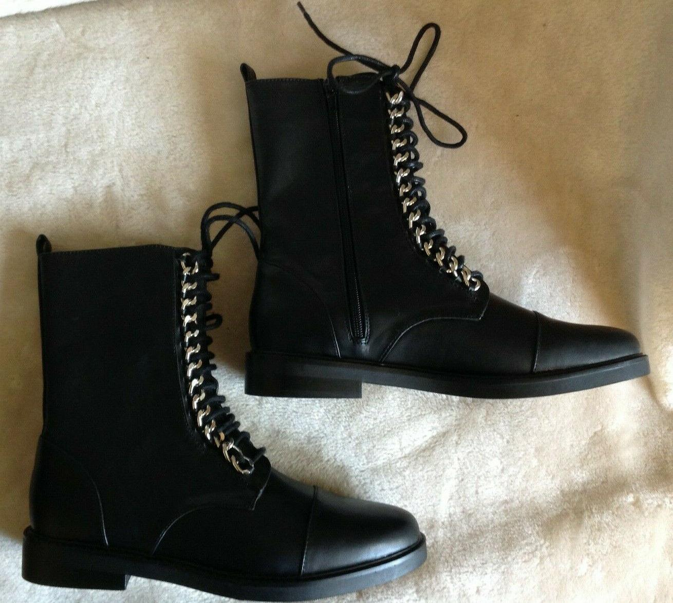 Forever Combat Leather Chains NWT